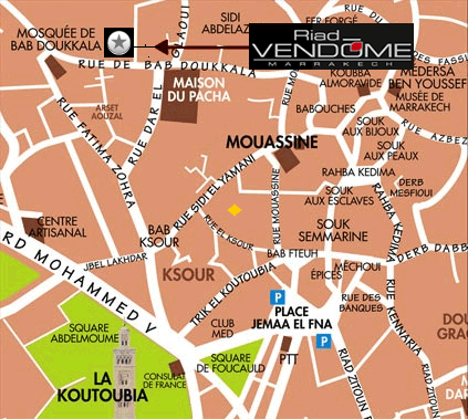 plan riad vendome