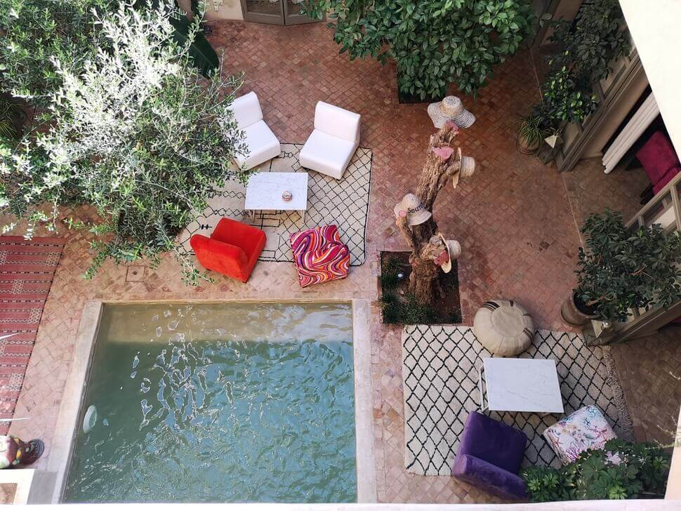 riad hotel à marrakech en demi-pension